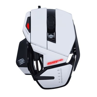 MadCatz R.A.T. 4+ Optical Gaming Mouse, White